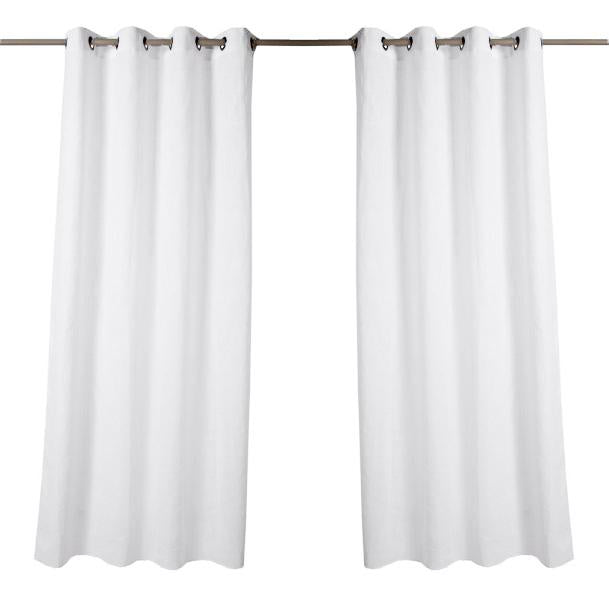 "White Linen Curtains (55"" x 110"")"