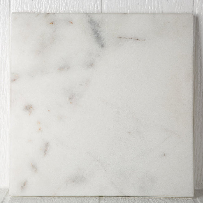 White Marble Square Serving Board