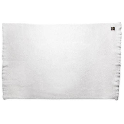 White Mohair Throw Blanket