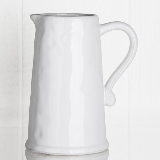 White Porcelain Pitcher
