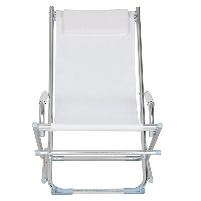 White Rocking Lounge Chair