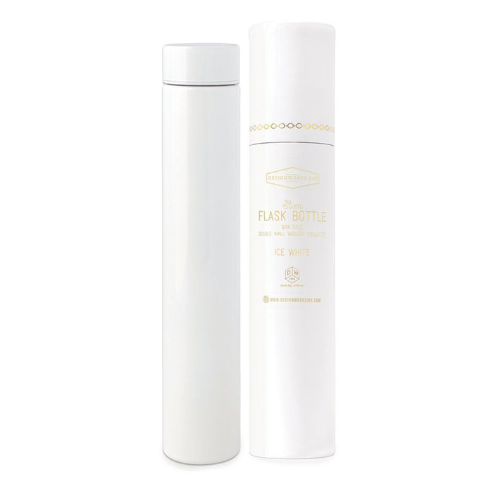 White Slim Flask Bottle in Tube