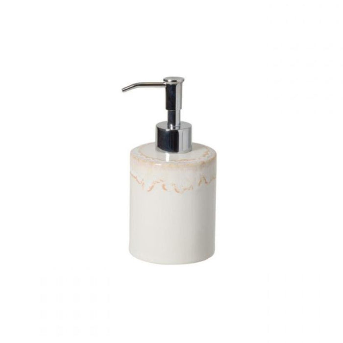 White Taormina Soap Lotion Pump