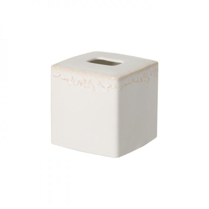 White Taormina Tissue Boutique Holder