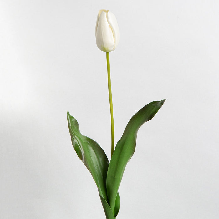 White Tulip Silk Flower