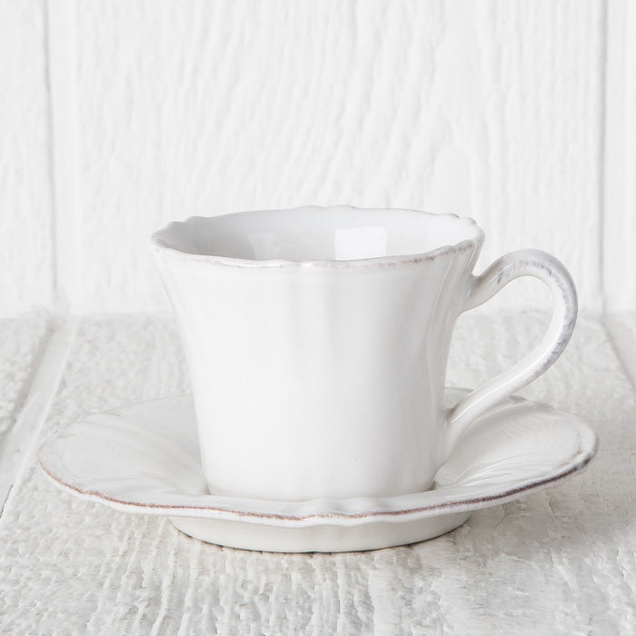 White Village Teacup & Saucer