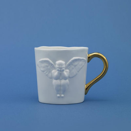 X+Q Art: All My Life Angel Mug- Gold Handle