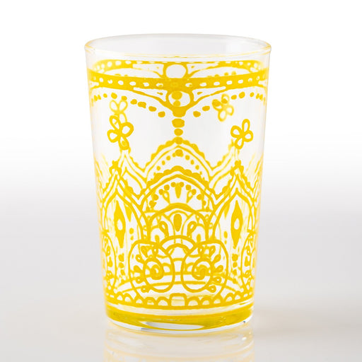 Yellow Armelle Moroccan Tea Glass