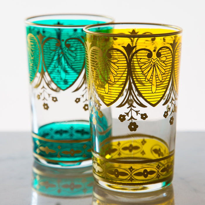 Yellow Assif Moroccan Tea Glass
