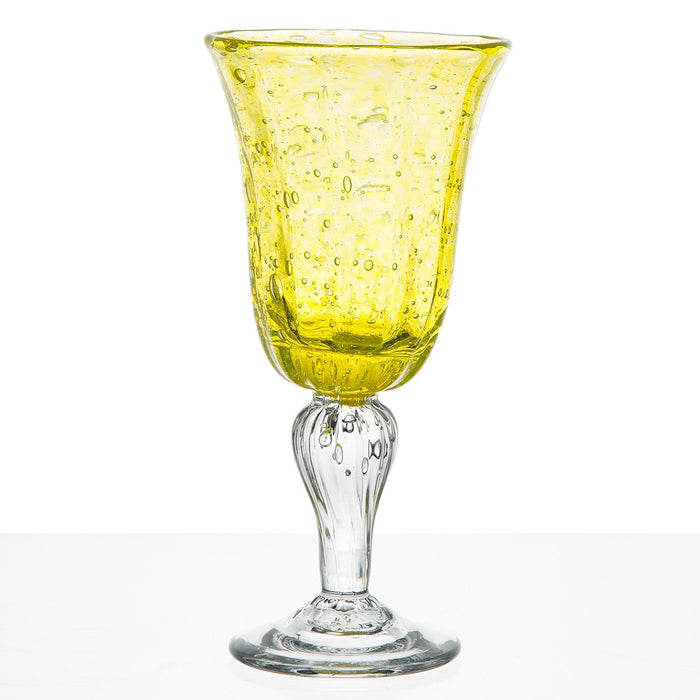 Yellow French Hand Blown Barware