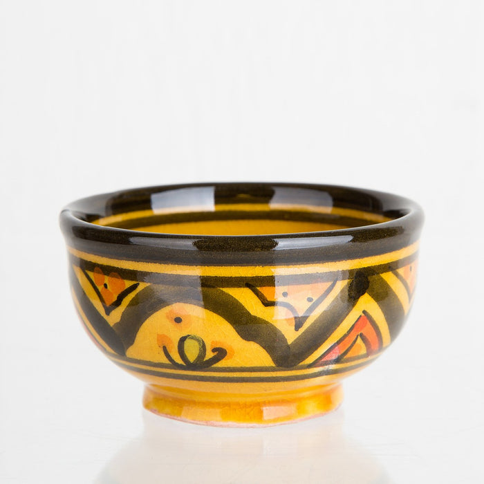 Yellow Hand Painted Moroccan Bowl (XS)