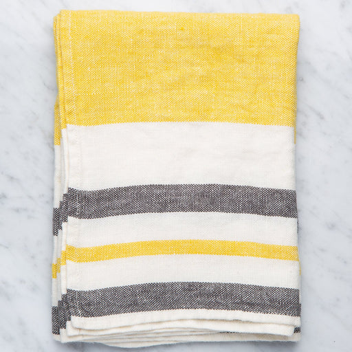 Yellow Torchon Tea Towel