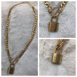 Authentic Louis Vuitton Lock Necklace
