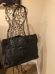 Vintage Chanel Leather Tote