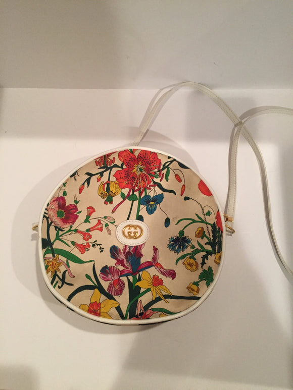 Vintage Gucci Floral Canteen Crossbody