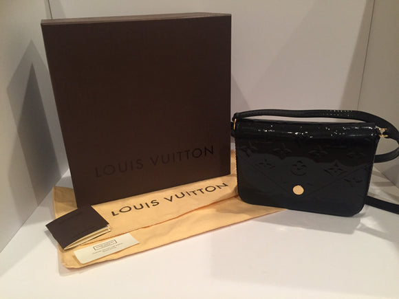 Louis Vuitton Mini Sac Lucie Black Vernis Leather Cross Body Bag