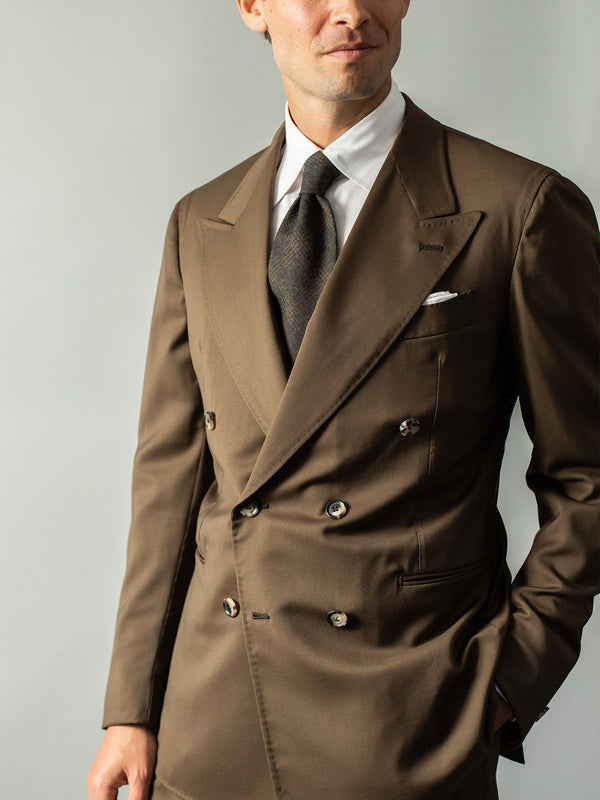 Whiskey Brown Double Breasted Suit