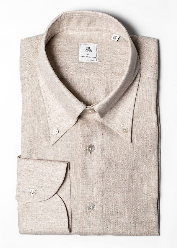Button Down Linen Shirt - Oat