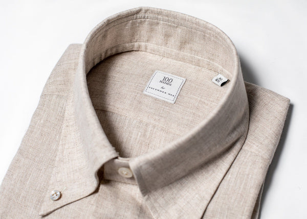 Button Down Linen - Oat