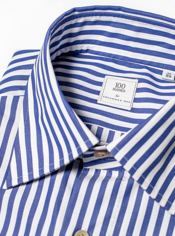 Butcher Stripe Shirt - Blue