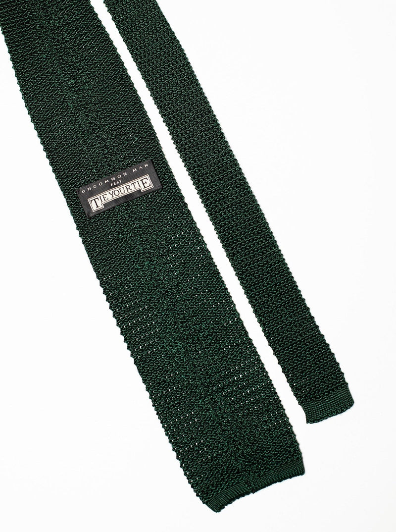 Silk Knit Tie - Green