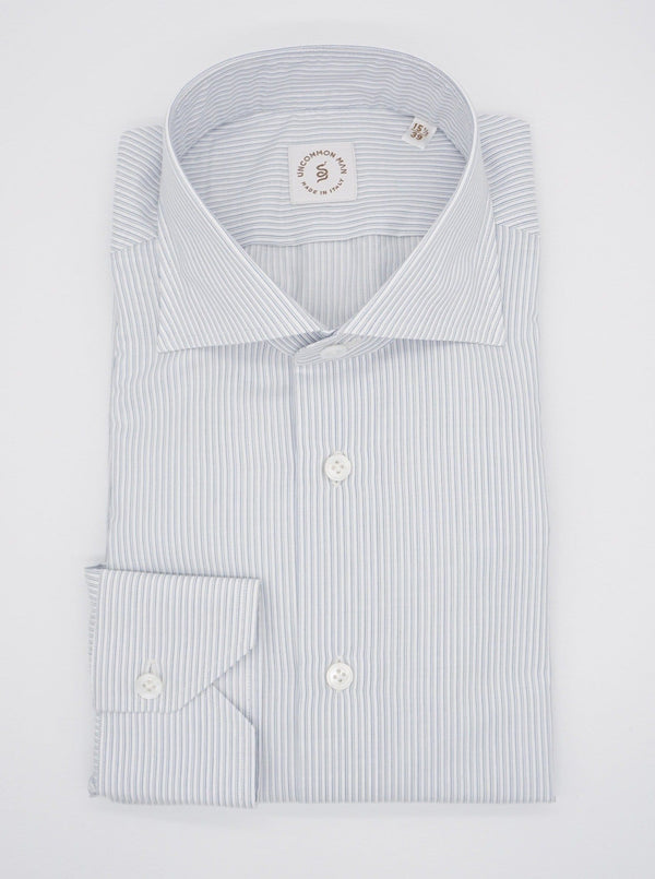 Multi Stripe Cut Away Collar Shirt - Blue