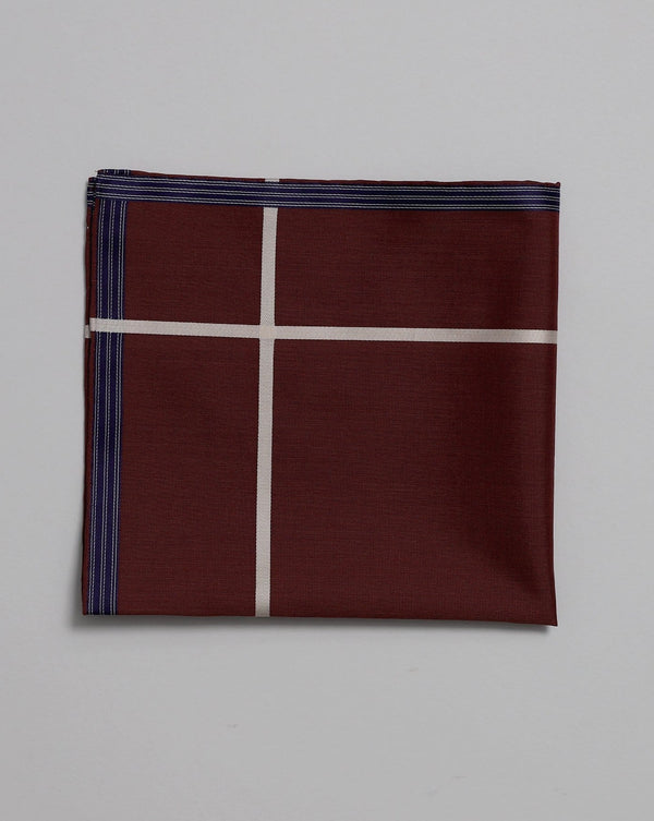 Bordeaux Cotton Pocket Square