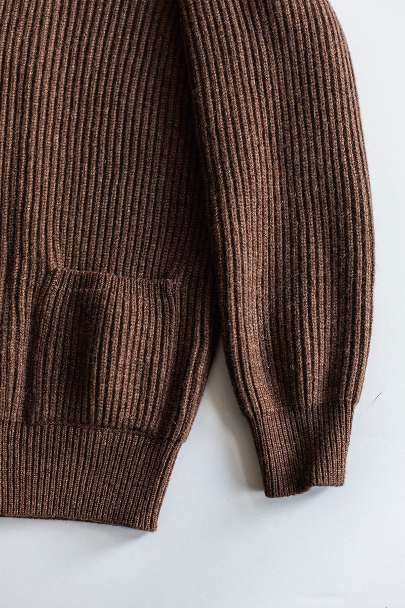 Cacao Brown Cashmere Shawl Cardigan