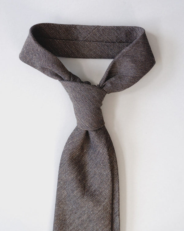Cotton Tie - Brown