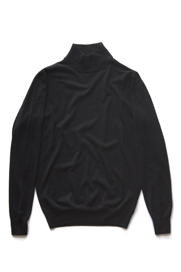 Black Turtleneck - Loro Piana Cashmere
