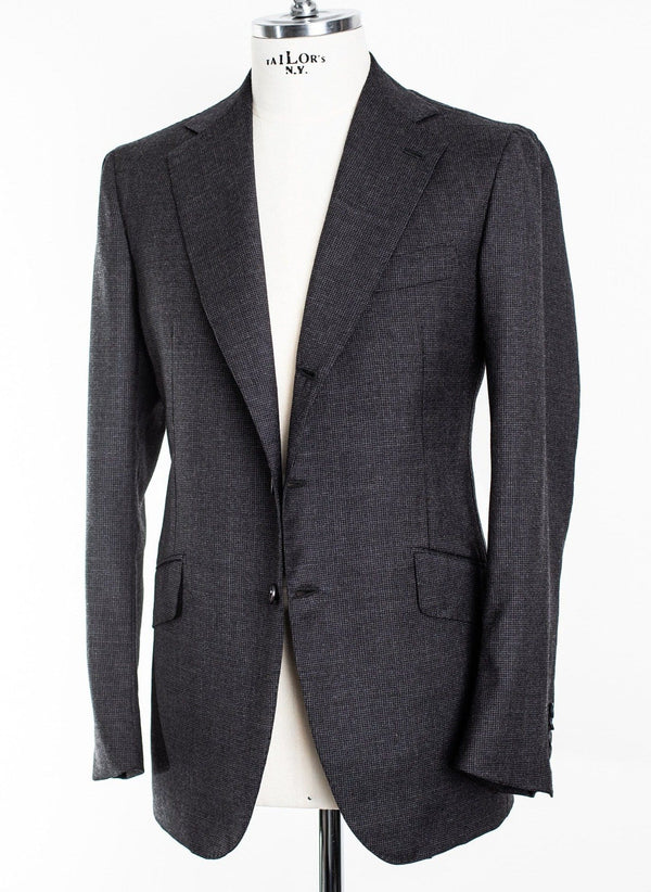 Charcoal Houndstooth 'Henry' False 3 Button Suit