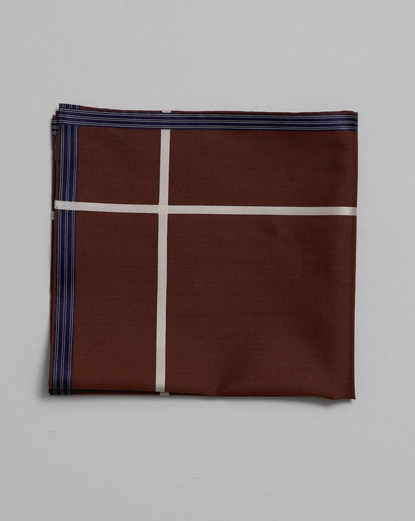 Chocolate Cotton Pocket Square