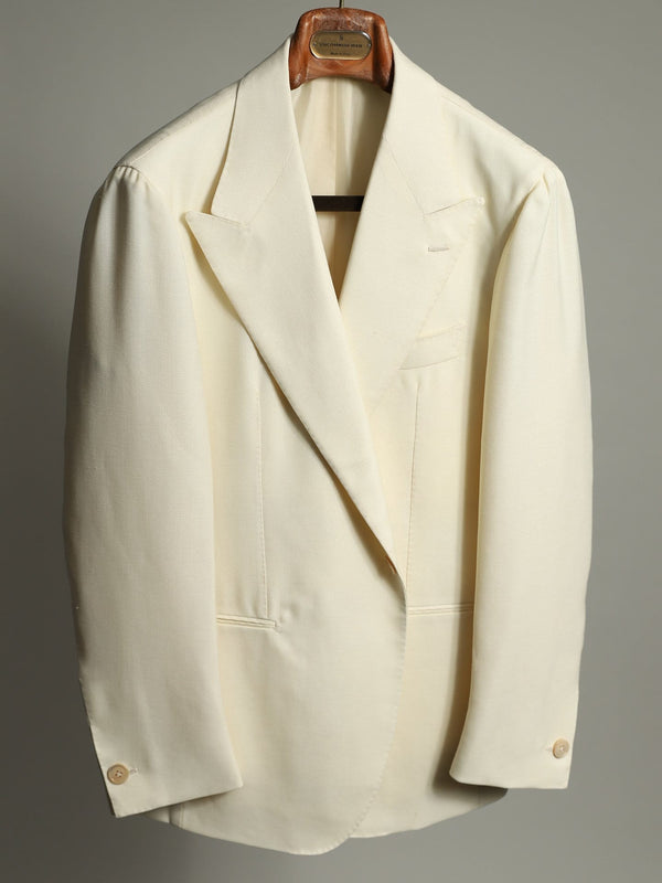 "Cream Hopsack Wool ""Grant"" Jacket"
