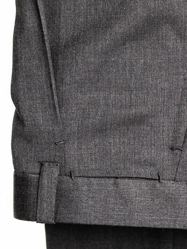 Mid Grey 'David' Single Pleat Trouser