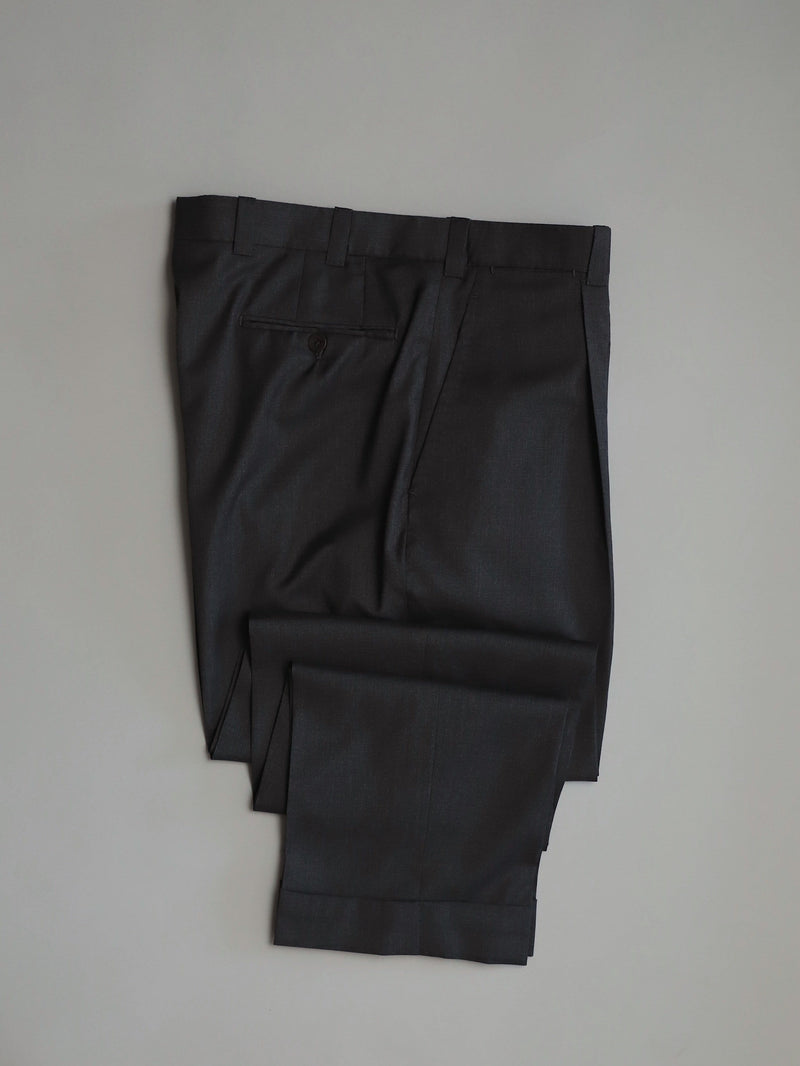 Mid Grey Single Pleat 'David' Trouser