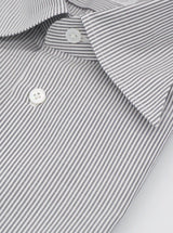 Spread Collar Cotton Bengal Stripe Shirt - Grey