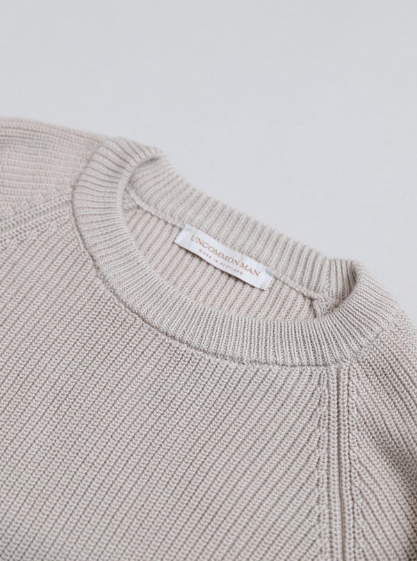 Cotton Fisherman Sweater - Silverbelly