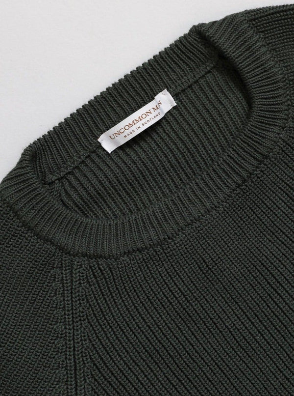 Cotton Fisherman Sweater - Verde Green