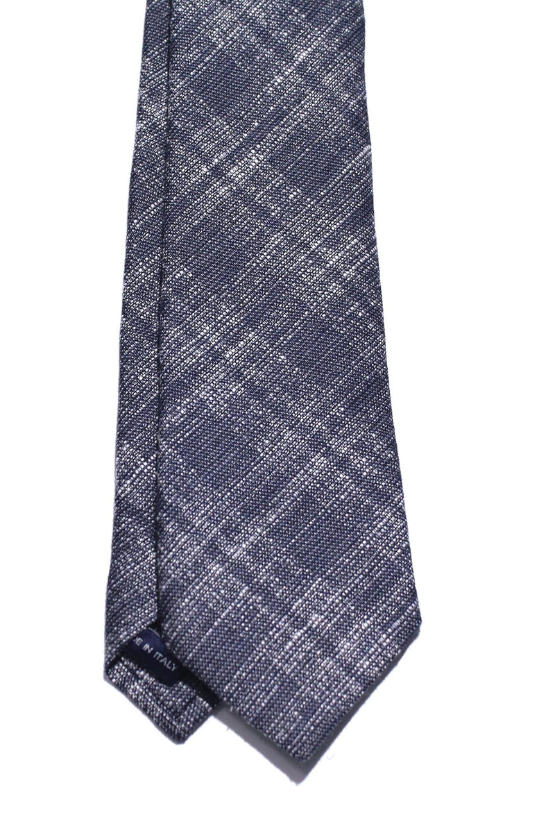 Navy Silk/Cotton Glen Check