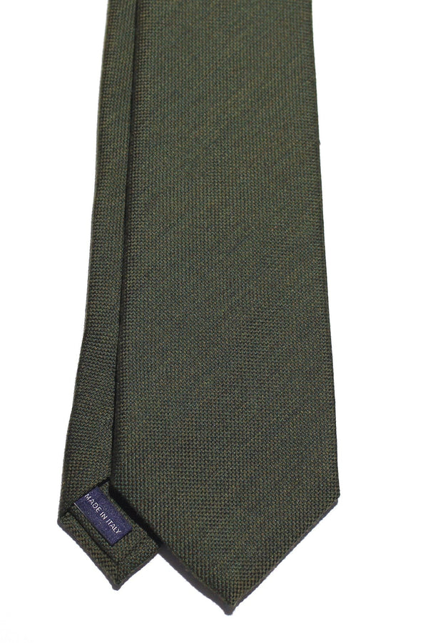 Forest Green Wool Silk