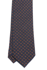 Charcoal Pattern Silk - Red/Gold Paisley