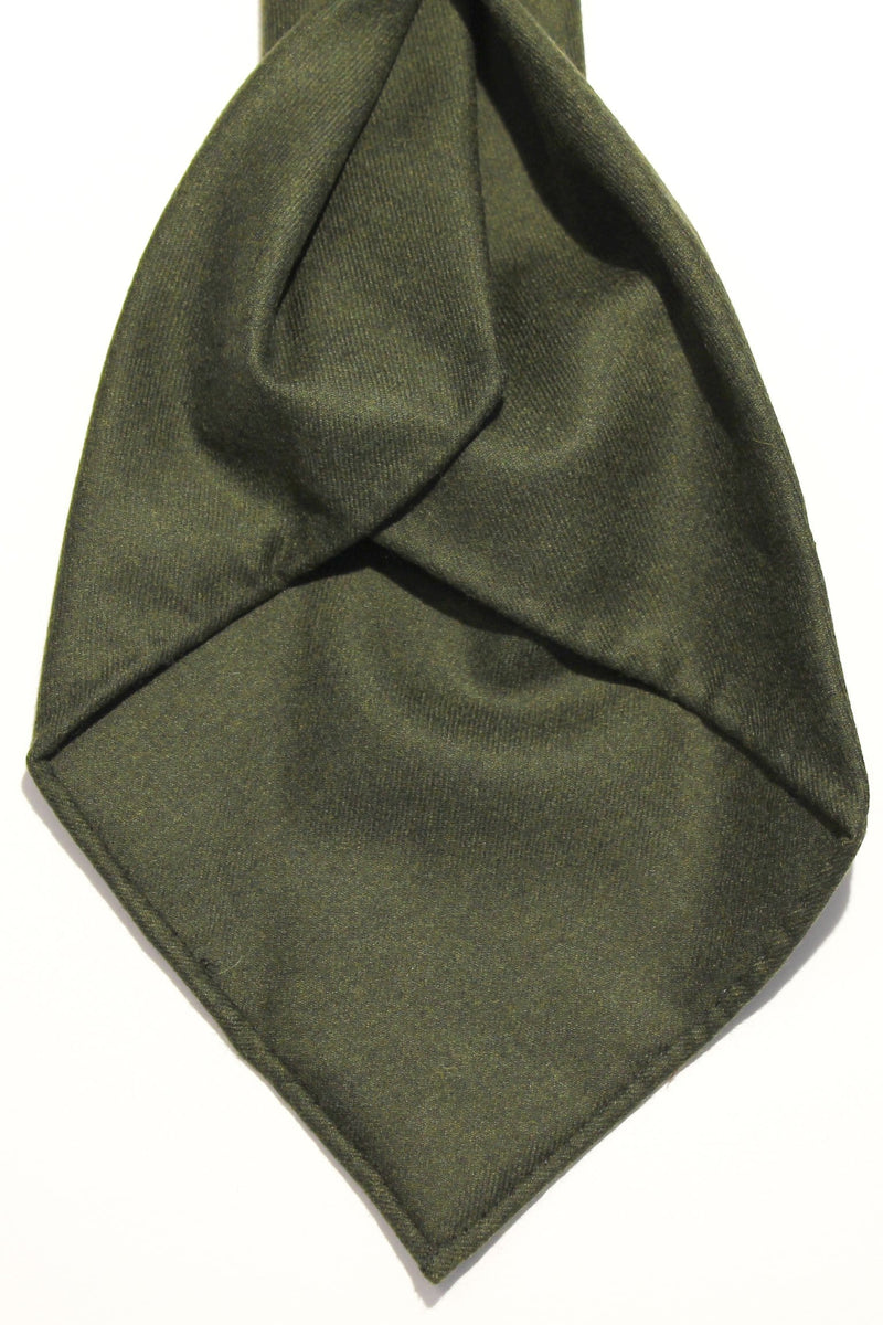 Seven Fold Flannel - Dark Green