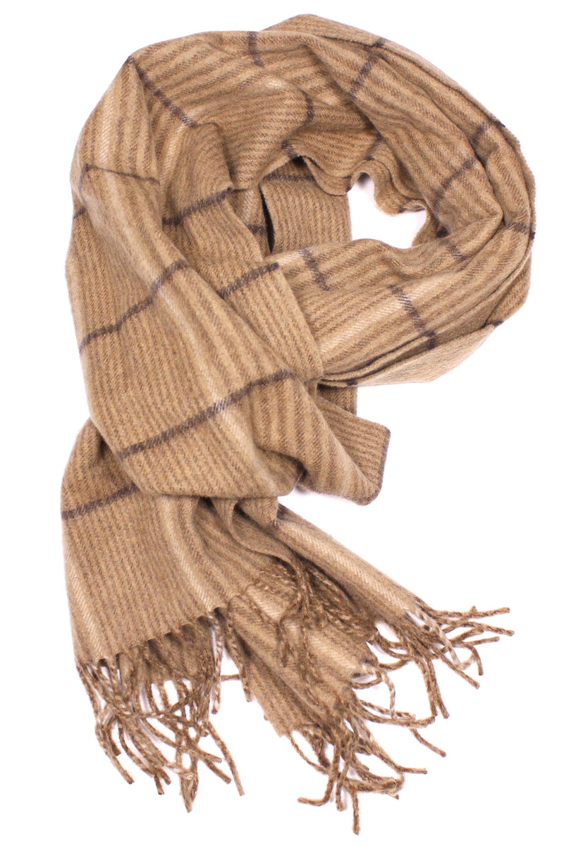 Escorial Scarf - Camel Check