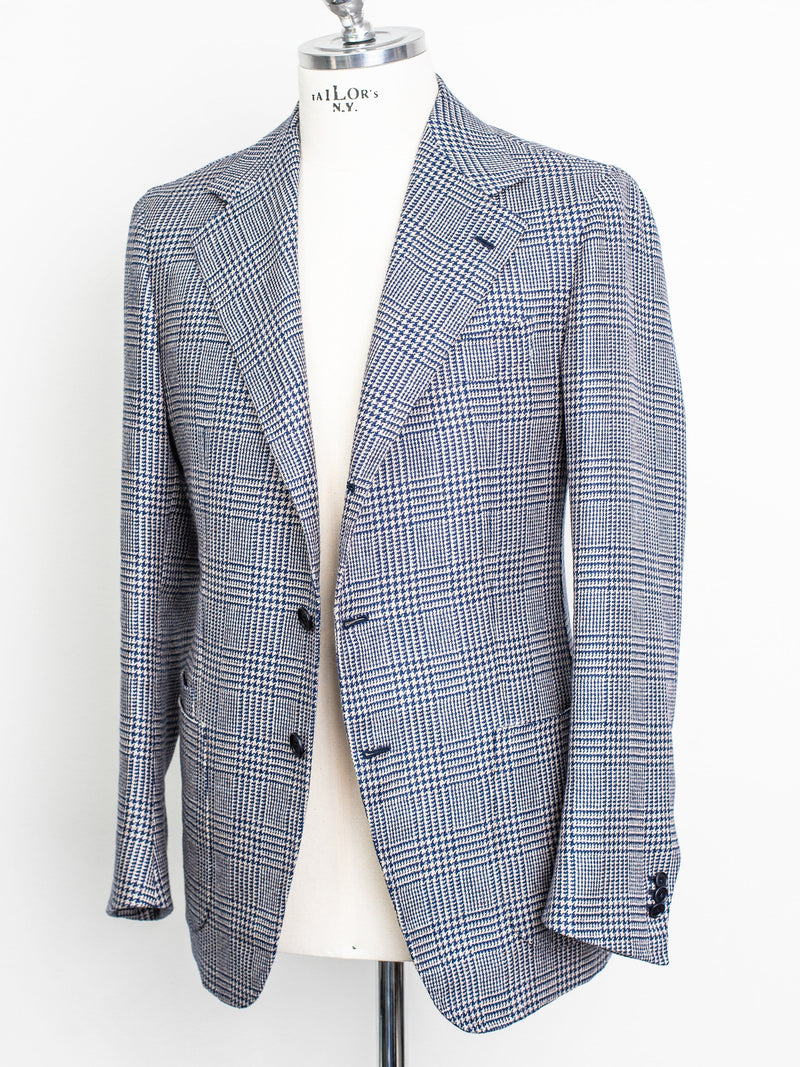 Lee Check Jacket - False 3 Button Wool/Linen