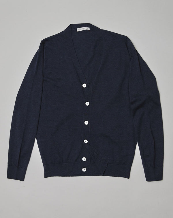 Navy Geelong Wool Cardigan