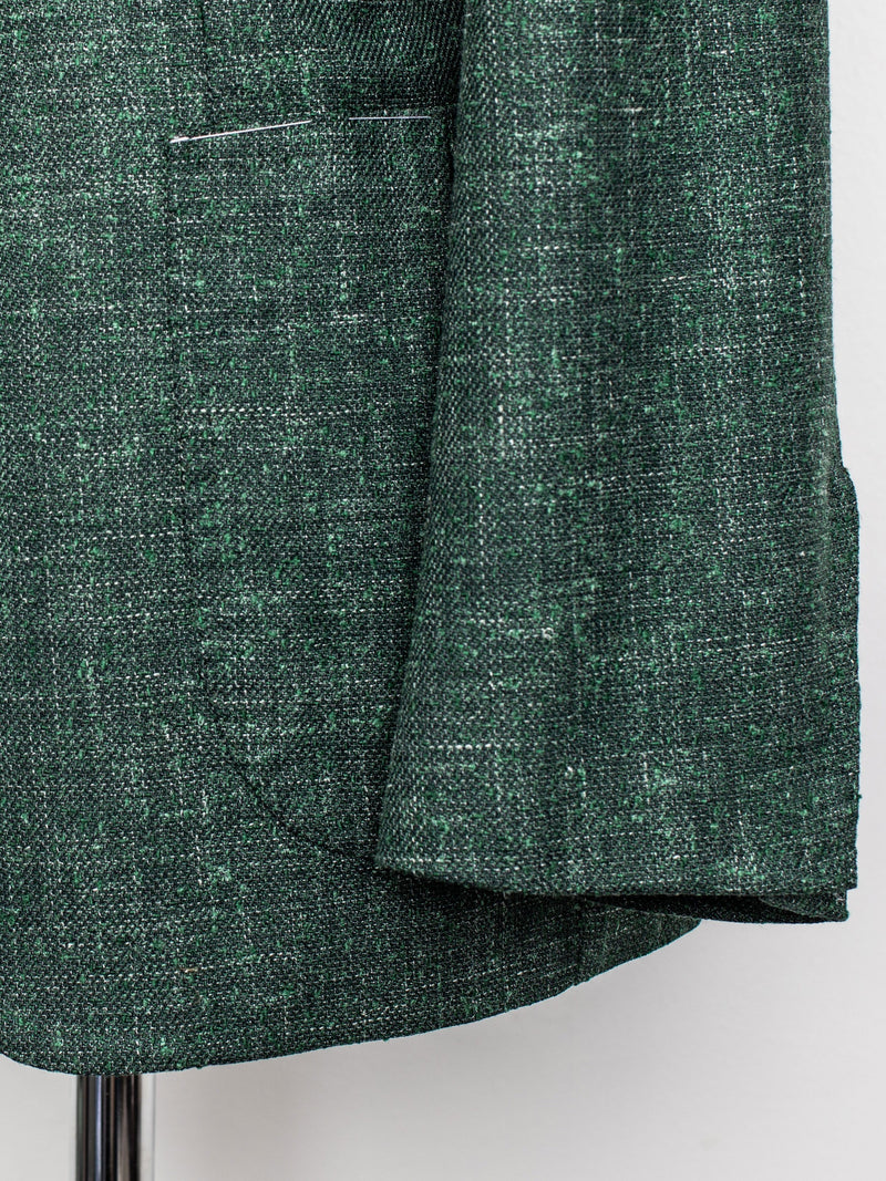 Green Jacket - Wool, Linen & Silk - 50