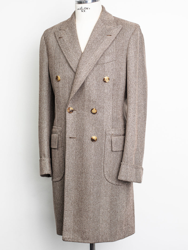 Herringbone Wool DB Topcoat