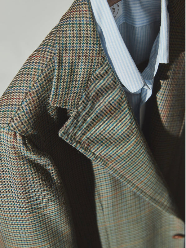 English Wool Houndstooth Check 'Lee' Jacket