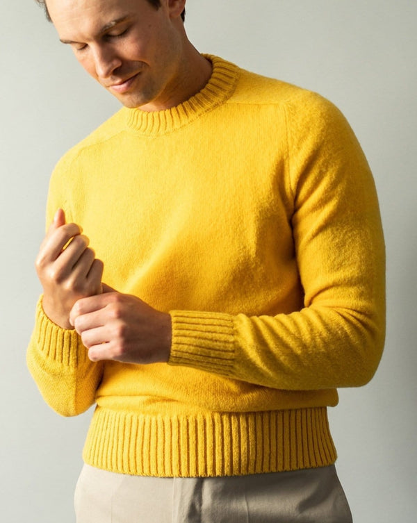 Shetland Wool Brushed Sweater - Prickly Pear