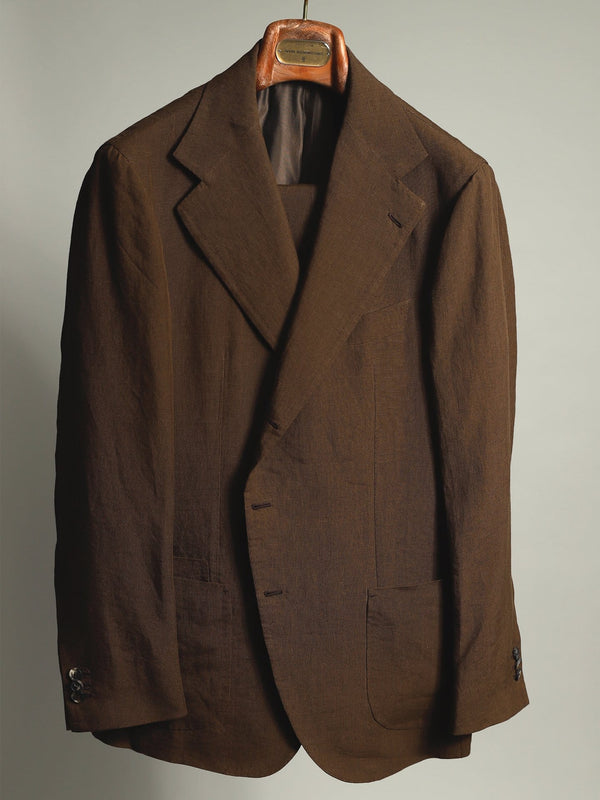 Tobacco Pure Linen 'Lee' Jacket